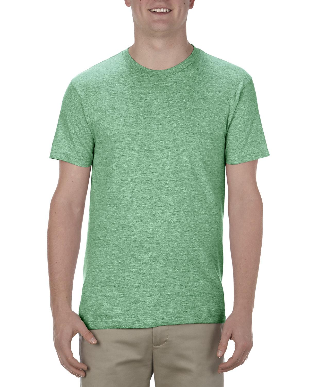Alstyle Adult 4.3 oz., Ringspun Cotton T-Shirt KELLY HEATHER