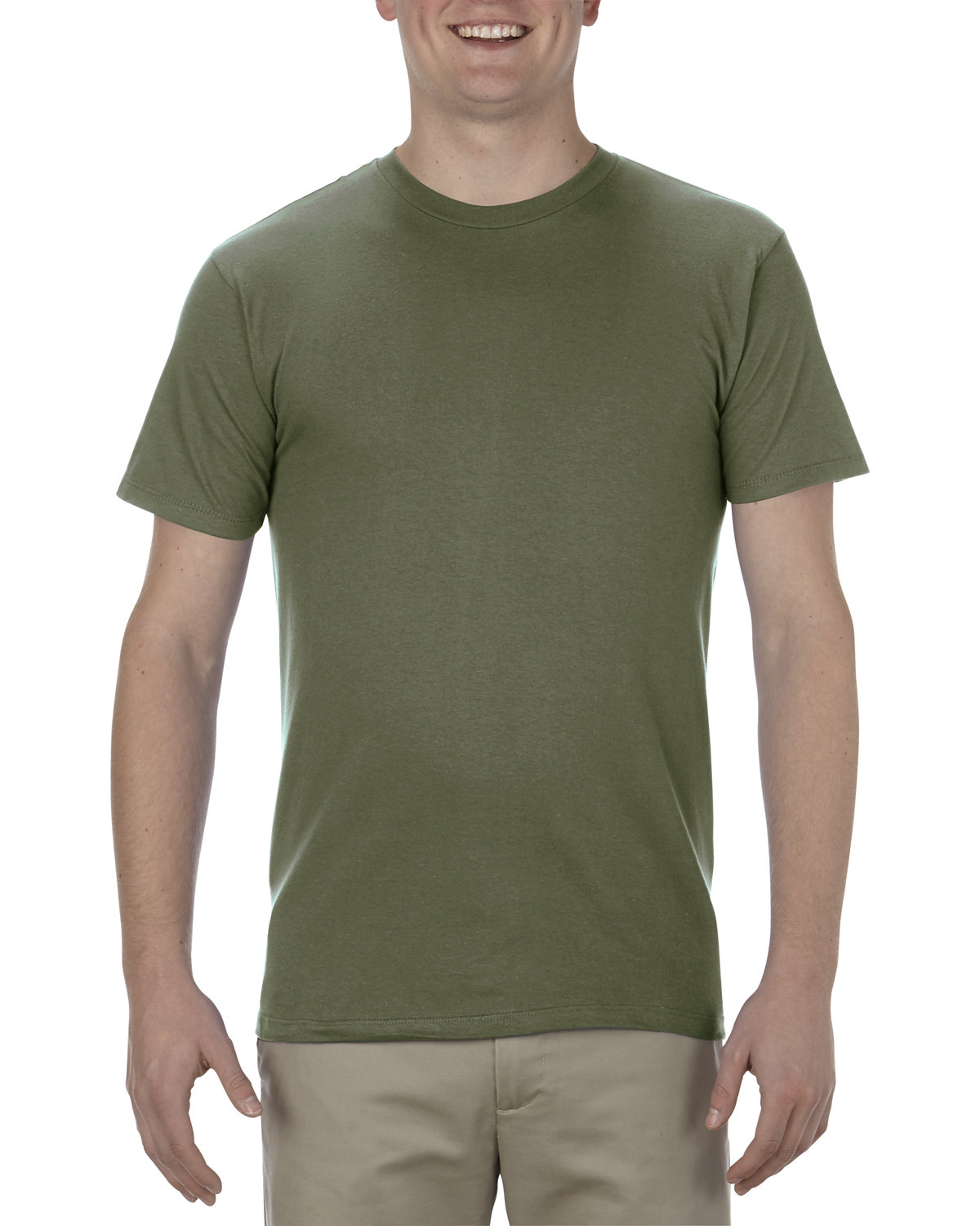 Alstyle Adult 4.3 oz., Ringspun Cotton T-Shirt MILITARY GREEN