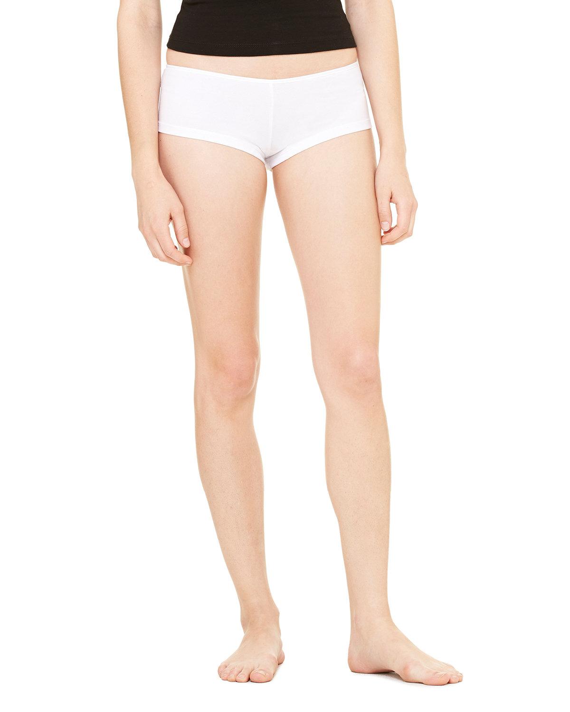 Bella + Canvas Ladies' Cotton/Spandex Shortie WHITE