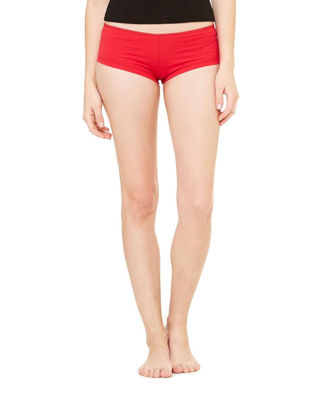 Bella + Canvas Ladies' Cotton/Spandex Shortie RED