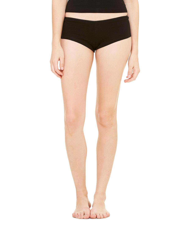 Bella + Canvas Ladies' Cotton/Spandex Shortie BLACK