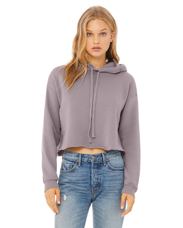 Bella + Canvas Ladies' Cropped Fleece Hoodie STORM