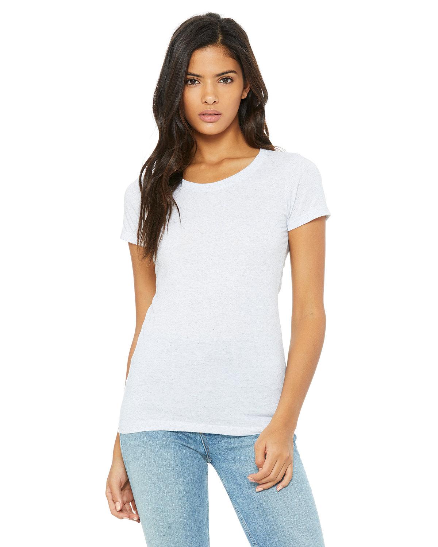 Bella + Canvas Ladies' Triblend Short-Sleeve T-Shirt WHITE FLECK TRB