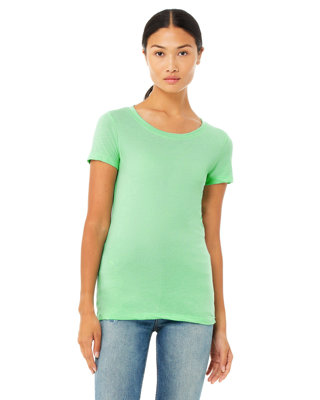 Bella + Canvas Ladies' Triblend Short-Sleeve T-Shirt MINT TRIBLEND