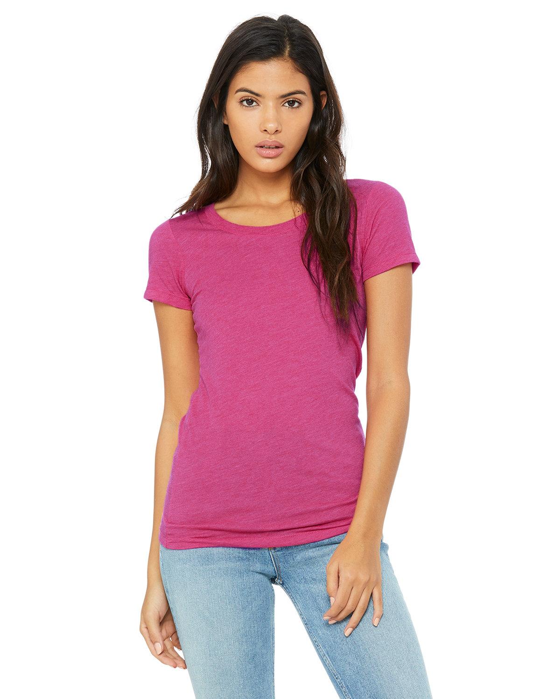 Bella + Canvas Ladies' Triblend Short-Sleeve T-Shirt BERRY TRIBLEND
