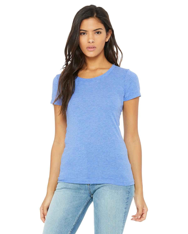 Bella + Canvas Ladies' Triblend Short-Sleeve T-Shirt BLUE TRIBLEND