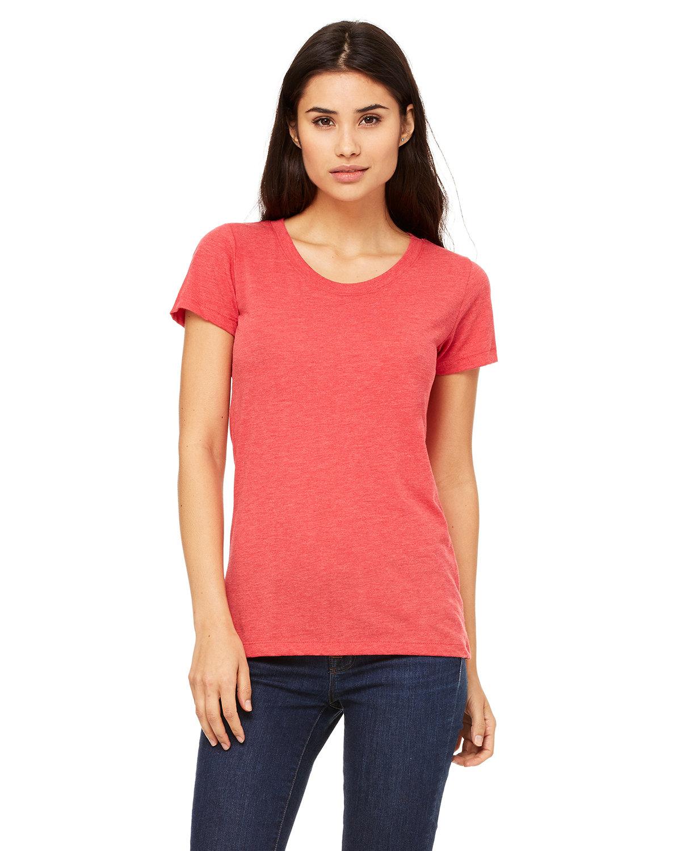 Bella + Canvas Ladies' Triblend Short-Sleeve T-Shirt RED TRIBLEND