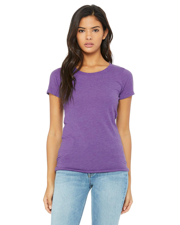 Bella + Canvas Ladies' Triblend Short-Sleeve T-Shirt PURPLE TRIBLEND