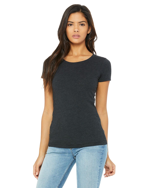 Bella + Canvas Ladies' Triblend Short-Sleeve T-Shirt CHAR-BLACK TRIB