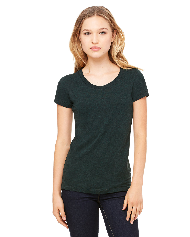 Bella + Canvas Ladies' Triblend Short-Sleeve T-Shirt EMERALD TRIBLEND