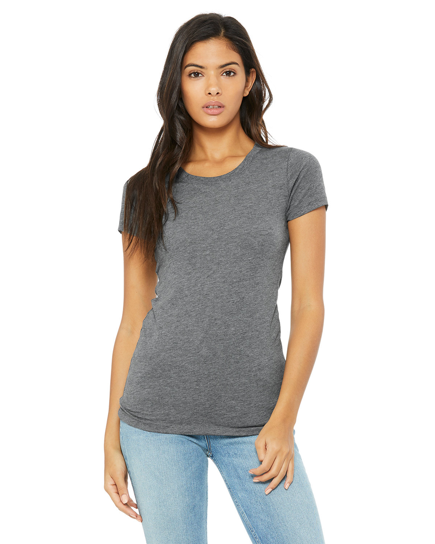 Bella + Canvas Ladies' Triblend Short-Sleeve T-Shirt GREY TRIBLEND
