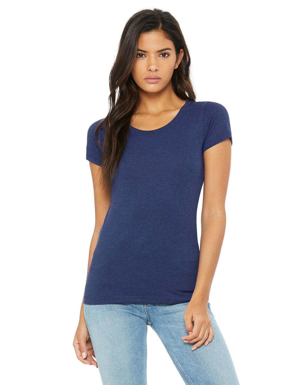 Bella + Canvas Ladies' Triblend Short-Sleeve T-Shirt NAVY TRIBLEND