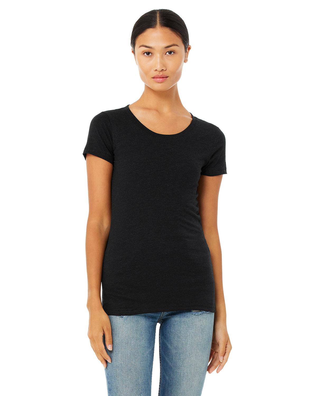 Bella + Canvas Ladies' Triblend Short-Sleeve T-Shirt BLK HTHR TRIBLND