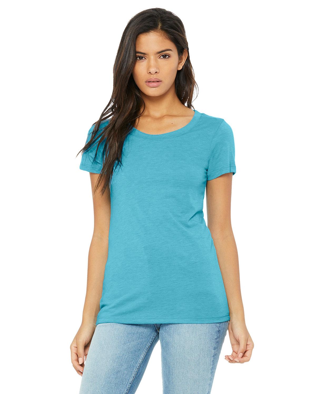 Bella + Canvas Ladies' Triblend Short-Sleeve T-Shirt AQUA TRIBLEND