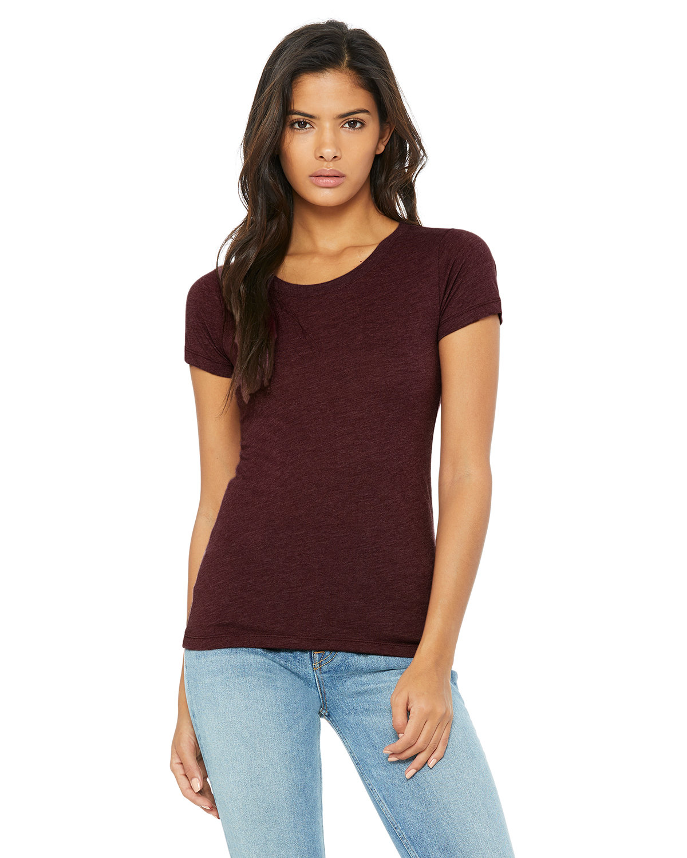 Bella + Canvas Ladies' Triblend Short-Sleeve T-Shirt MAROON TRIBLEND