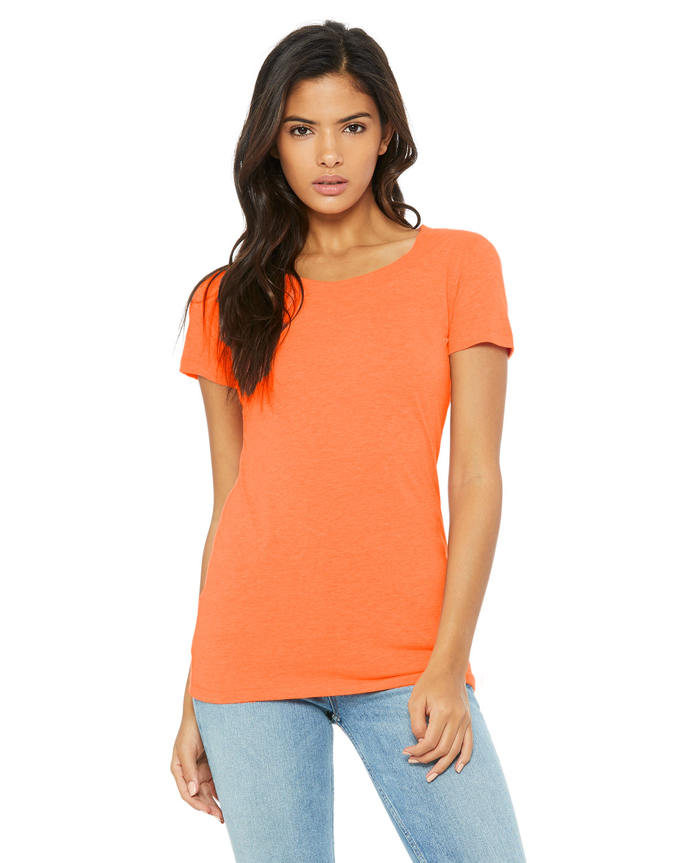 Bella + Canvas Ladies' Triblend Short-Sleeve T-Shirt ORANGE TRIBLEND