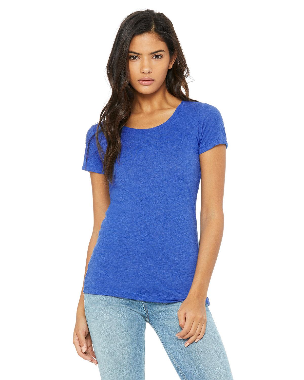 Bella + Canvas Ladies' Triblend Short-Sleeve T-Shirt TRUE ROYAL TRBLN