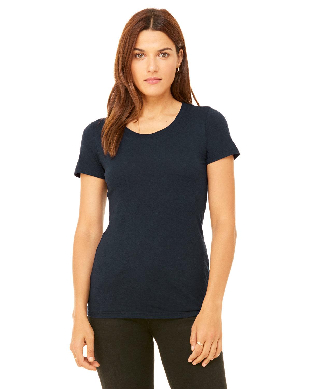 Bella + Canvas Ladies' Triblend Short-Sleeve T-Shirt SOLID NAVY TRBLN
