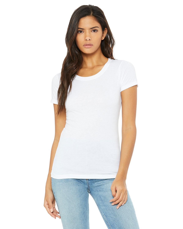 Bella + Canvas Ladies' Triblend Short-Sleeve T-Shirt SOLID WHT TRBLND