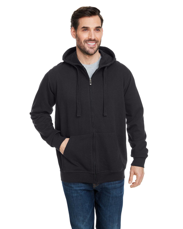 Burnside Men's  French Terry Full-Zip Hooded Sweatshirt SOLID BLACK