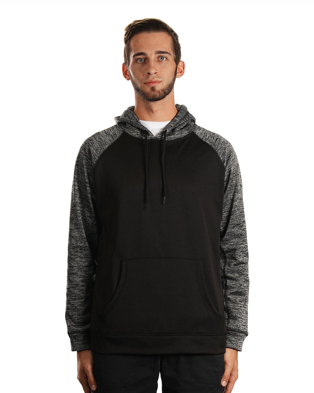 Burnside Men's Go Anywhere Performance Fleece Pullover BLACK/ CHARCOAL