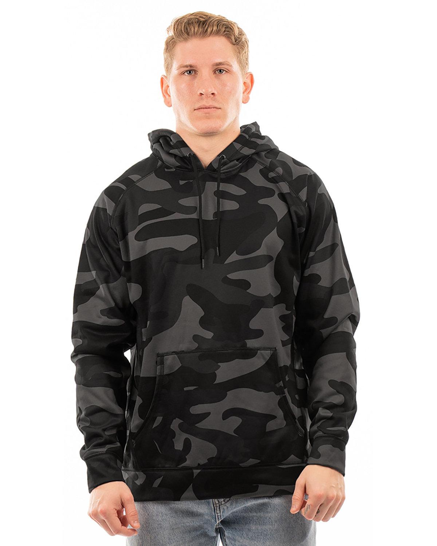 Burnside Men's Go Anywhere Performance Fleece Pullover BLACK CAMO