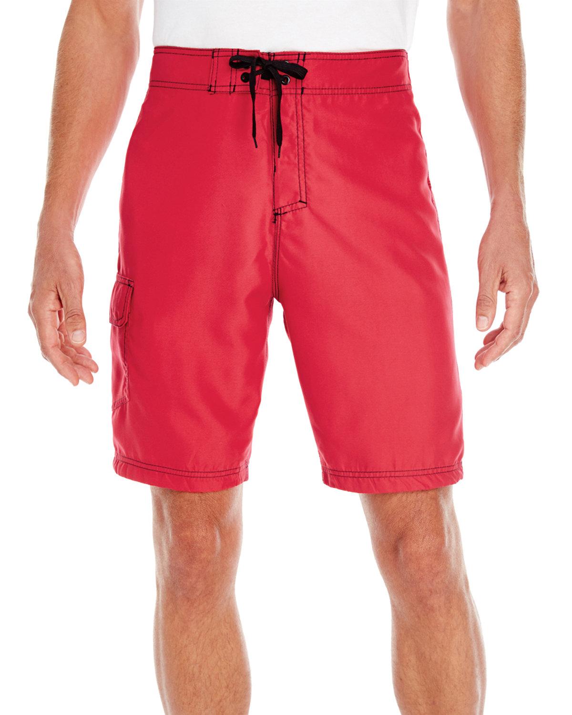 Burnside Men's Solid Board Short RED