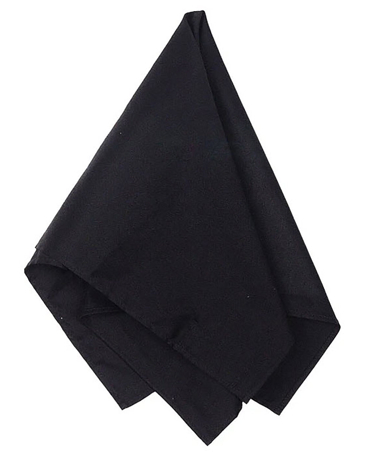 Big Accessories Solid Bandana BLACK