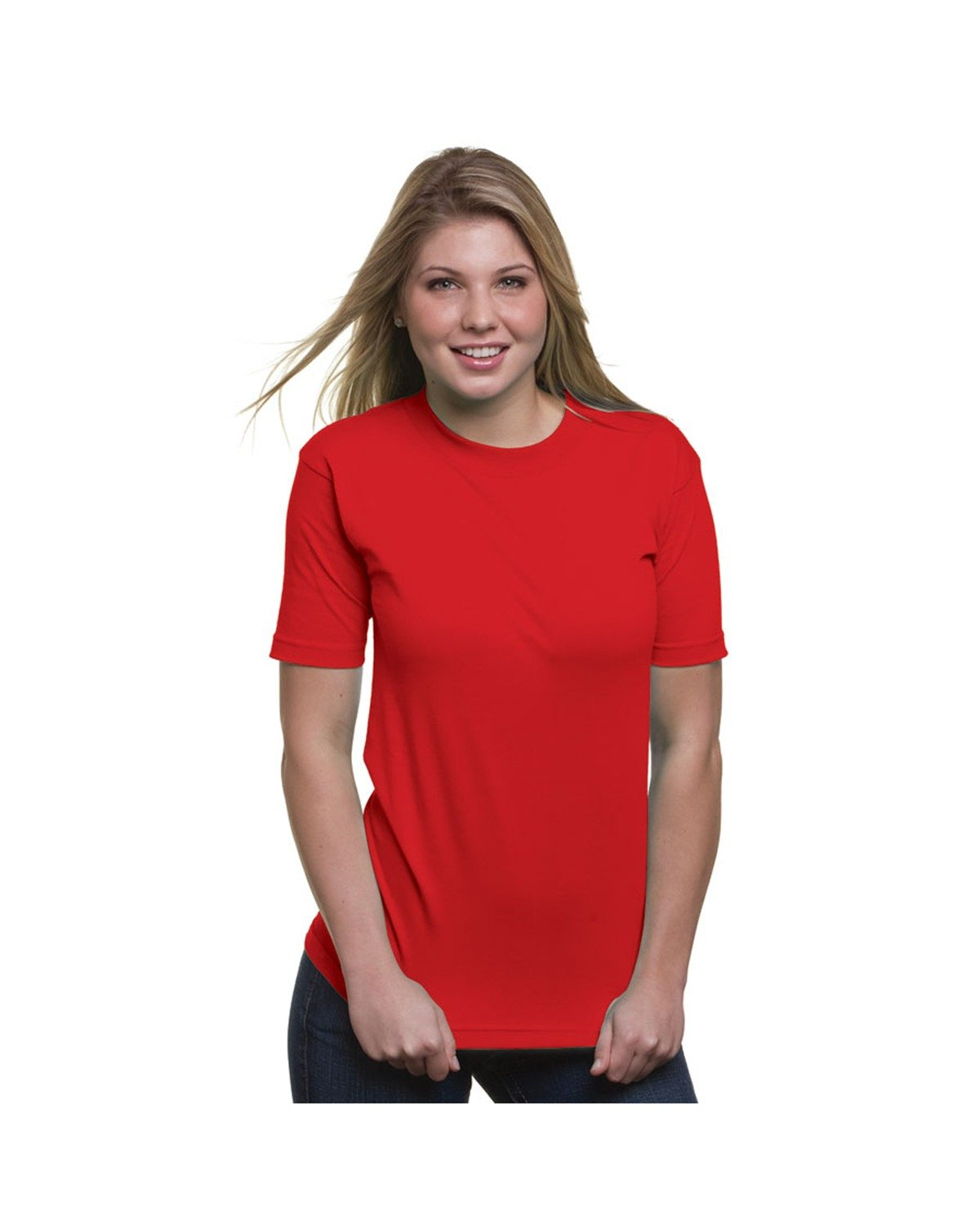 Bayside Adult 6.1 oz. 100% Cotton T-Shirt RED