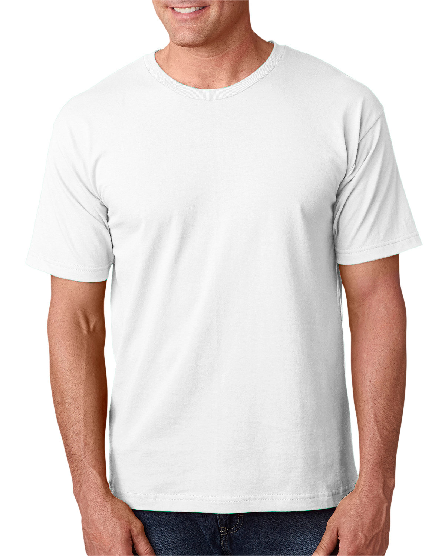 Bayside Adult 5.4 oz., 100% Cotton T-Shirt WHITE