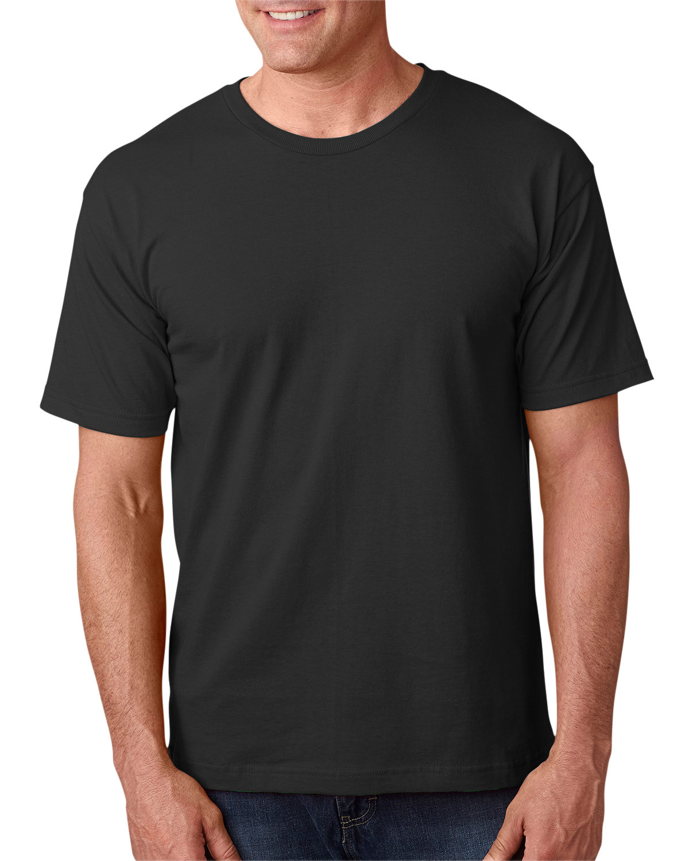 Bayside Adult 5.4 oz., 100% Cotton T-Shirt BLACK