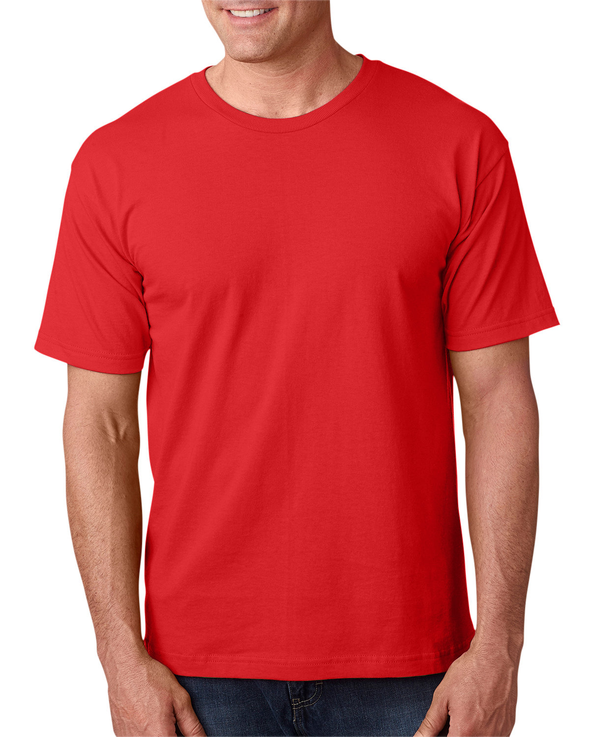 Bayside Adult 5.4 oz., 100% Cotton T-Shirt RED