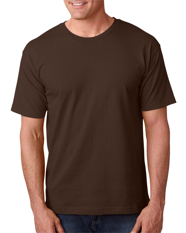 Bayside Adult 5.4 oz., 100% Cotton T-Shirt CHOCOLATE