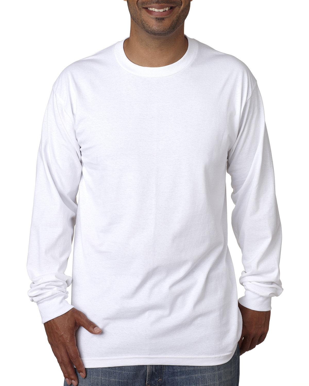 Bayside Adult Long-Sleeve T-Shirt WHITE
