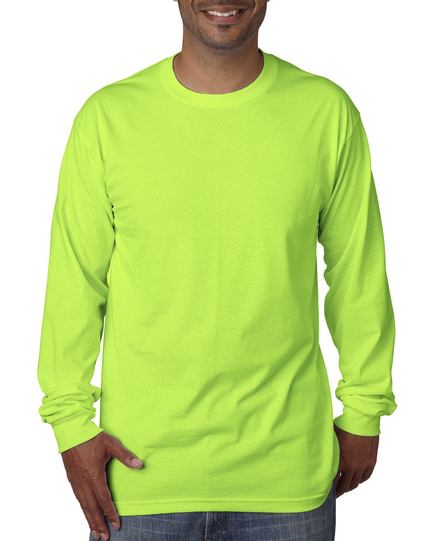 Bayside Adult Long-Sleeve T-Shirt LIME