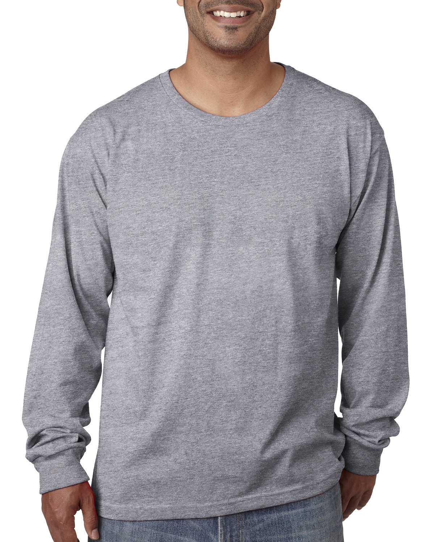 Bayside Adult Long-Sleeve T-Shirt DARK ASH