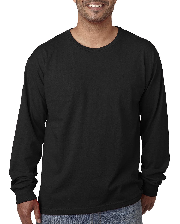 Bayside Adult Long-Sleeve T-Shirt BLACK