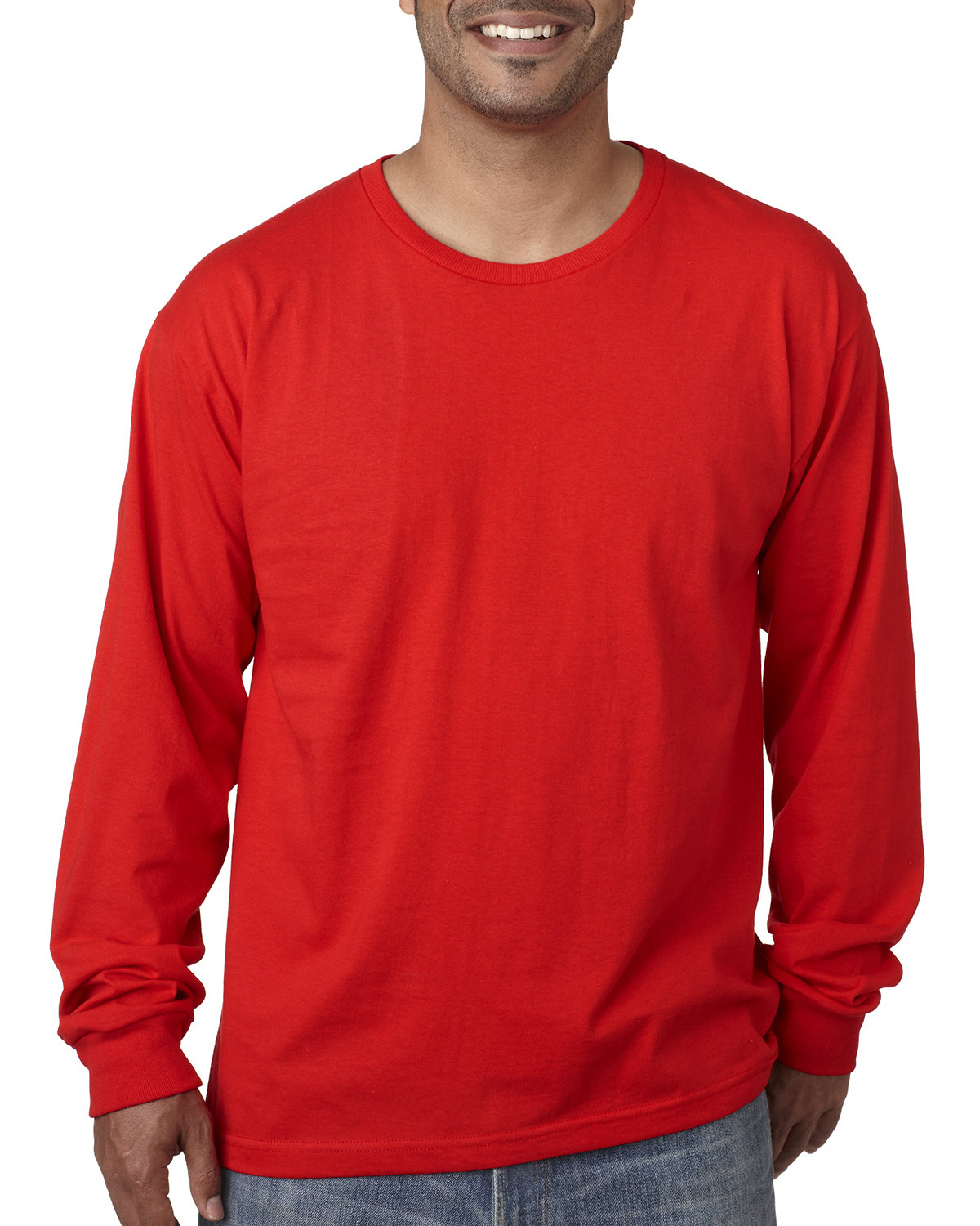 Bayside Adult Long-Sleeve T-Shirt RED