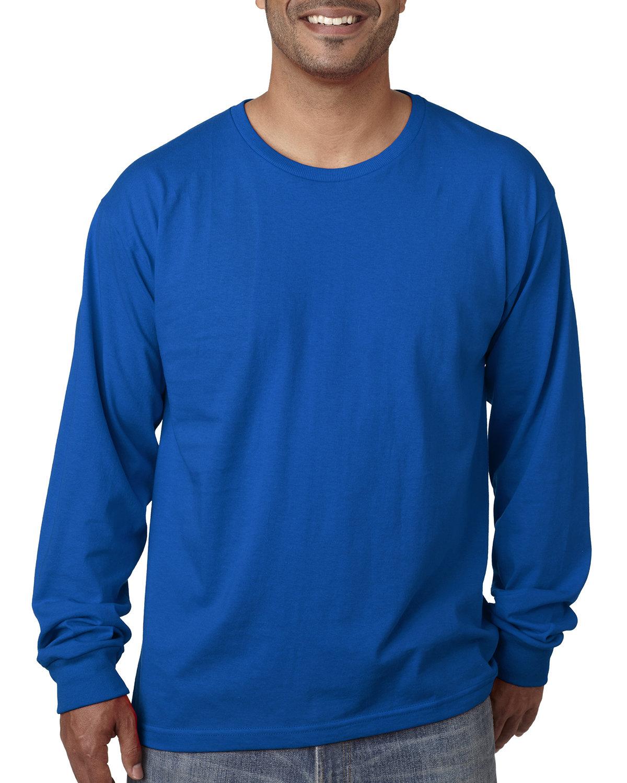 Bayside Adult Long-Sleeve T-Shirt ROYAL