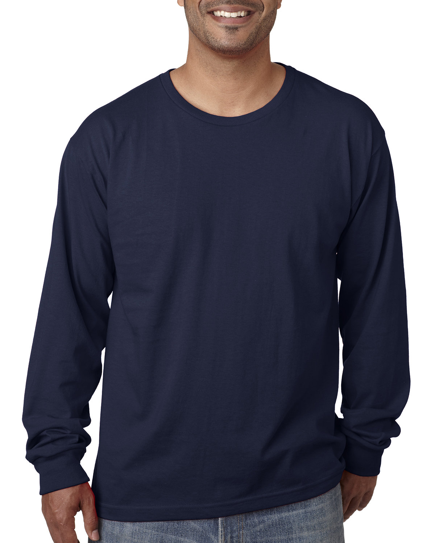 Bayside Adult Long-Sleeve T-Shirt LIGHT NAVY