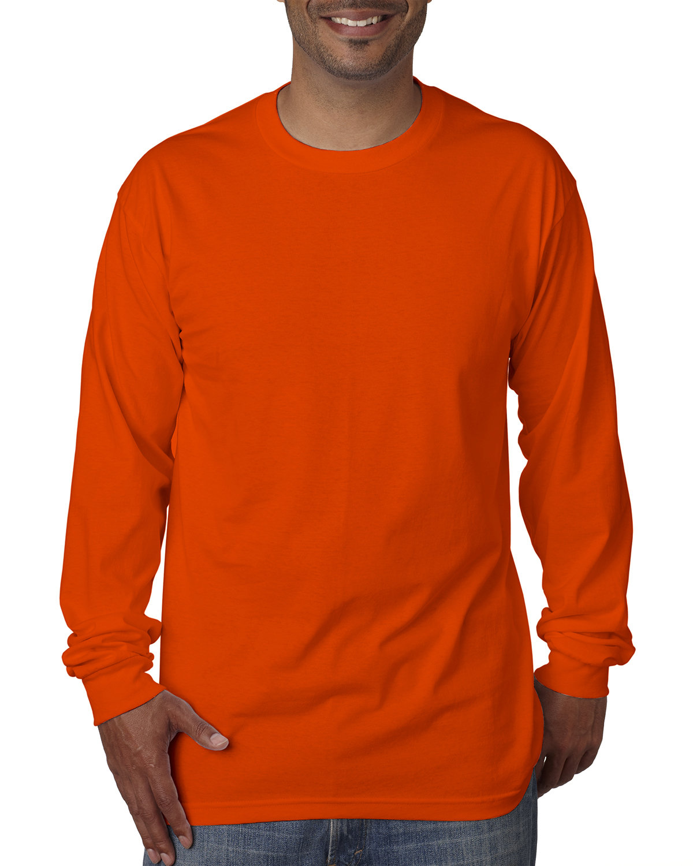 Bayside Adult Long-Sleeve T-Shirt BRIGHT ORANGE