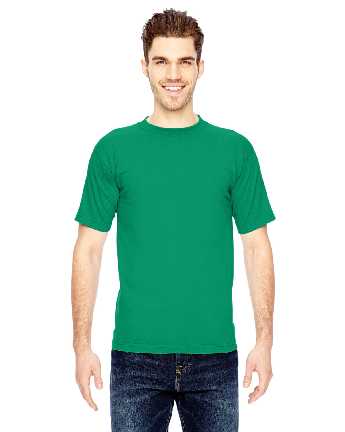 Bayside Adult 6.1 oz., 100% Cotton T-Shirt KELLY