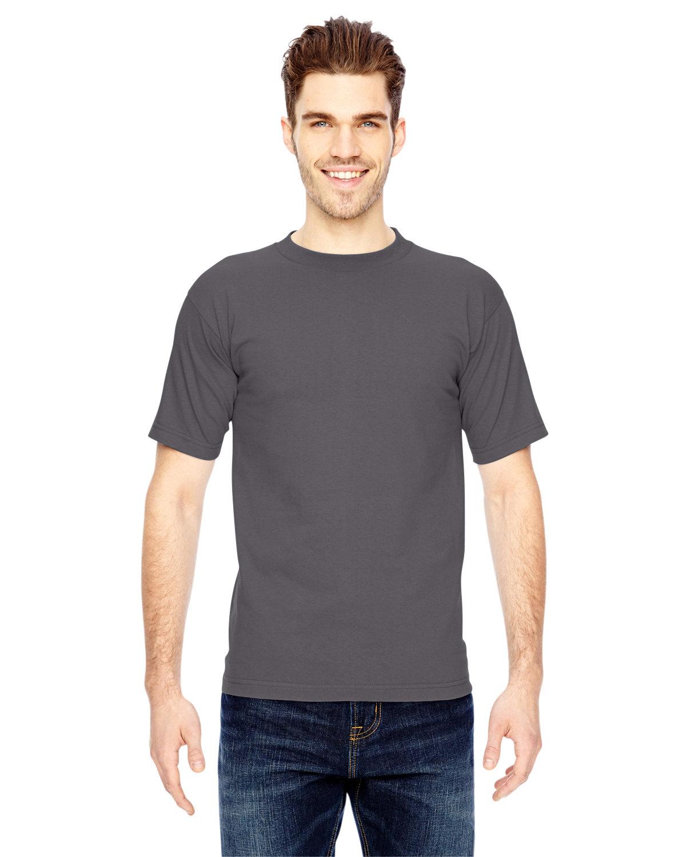 Bayside Adult 6.1 oz., 100% Cotton T-Shirt CHARCOAL