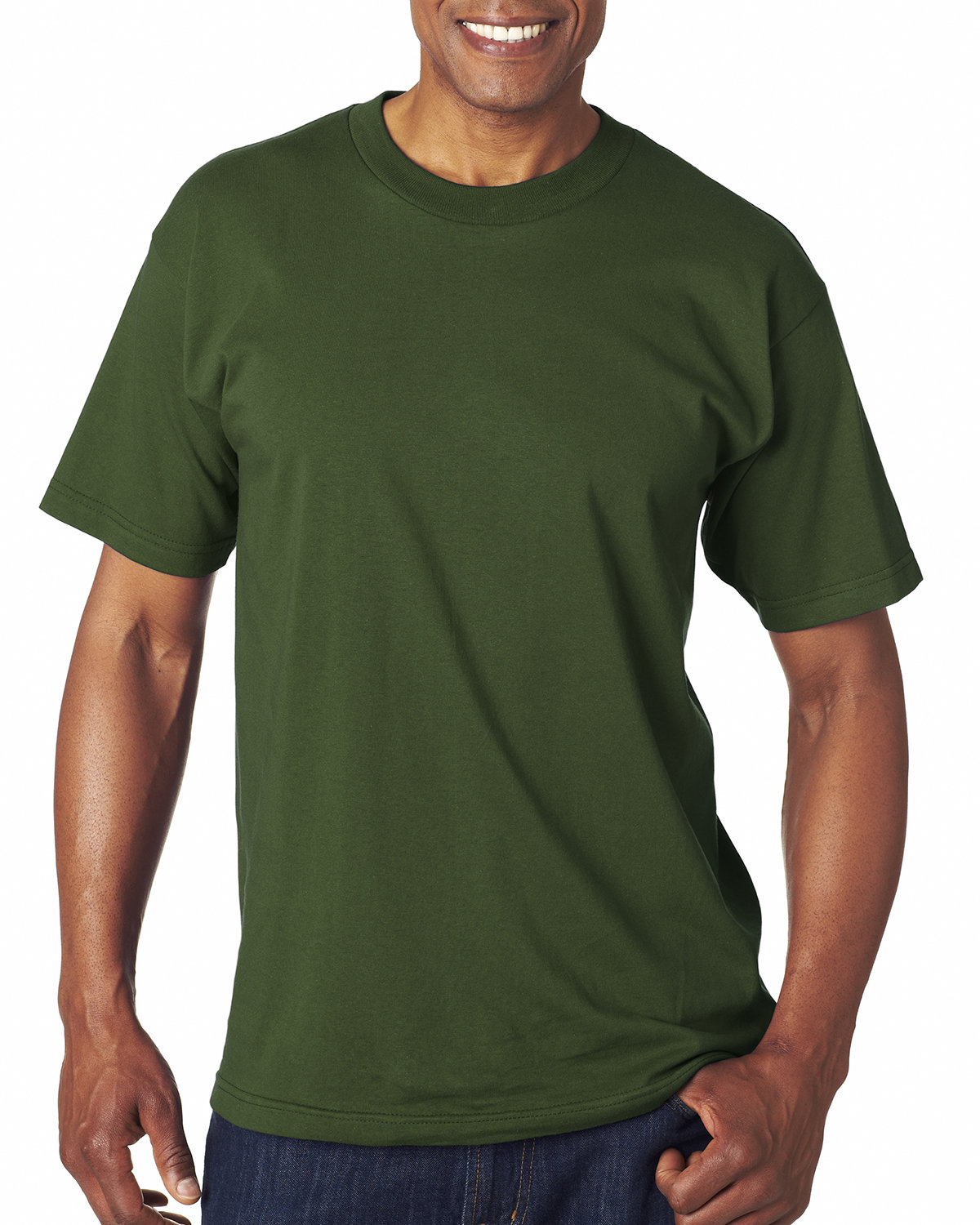 Bayside Adult 6.1 oz., 100% Cotton T-Shirt FOREST GREEN
