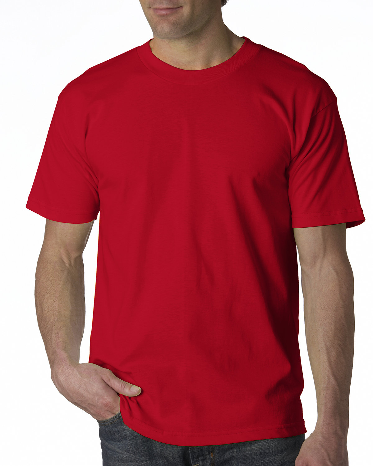 Bayside Adult 6.1 oz., 100% Cotton T-Shirt RED