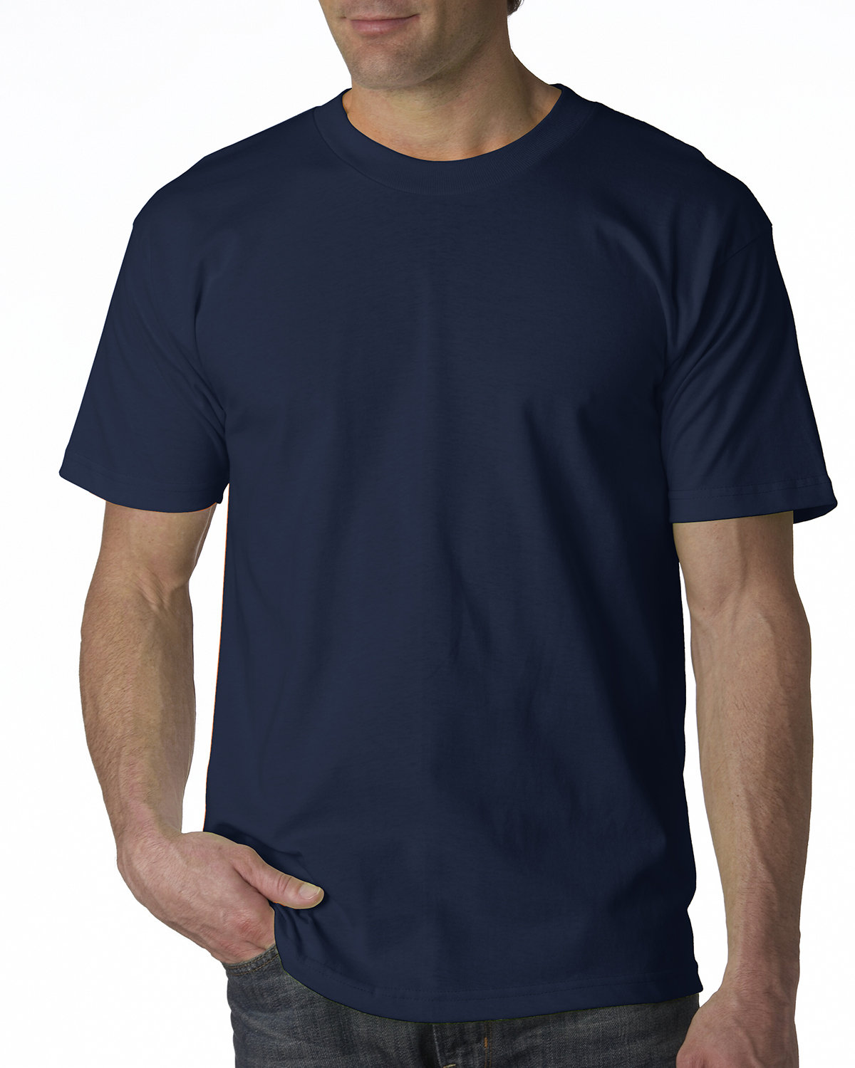 Bayside Adult 6.1 oz., 100% Cotton T-Shirt NAVY
