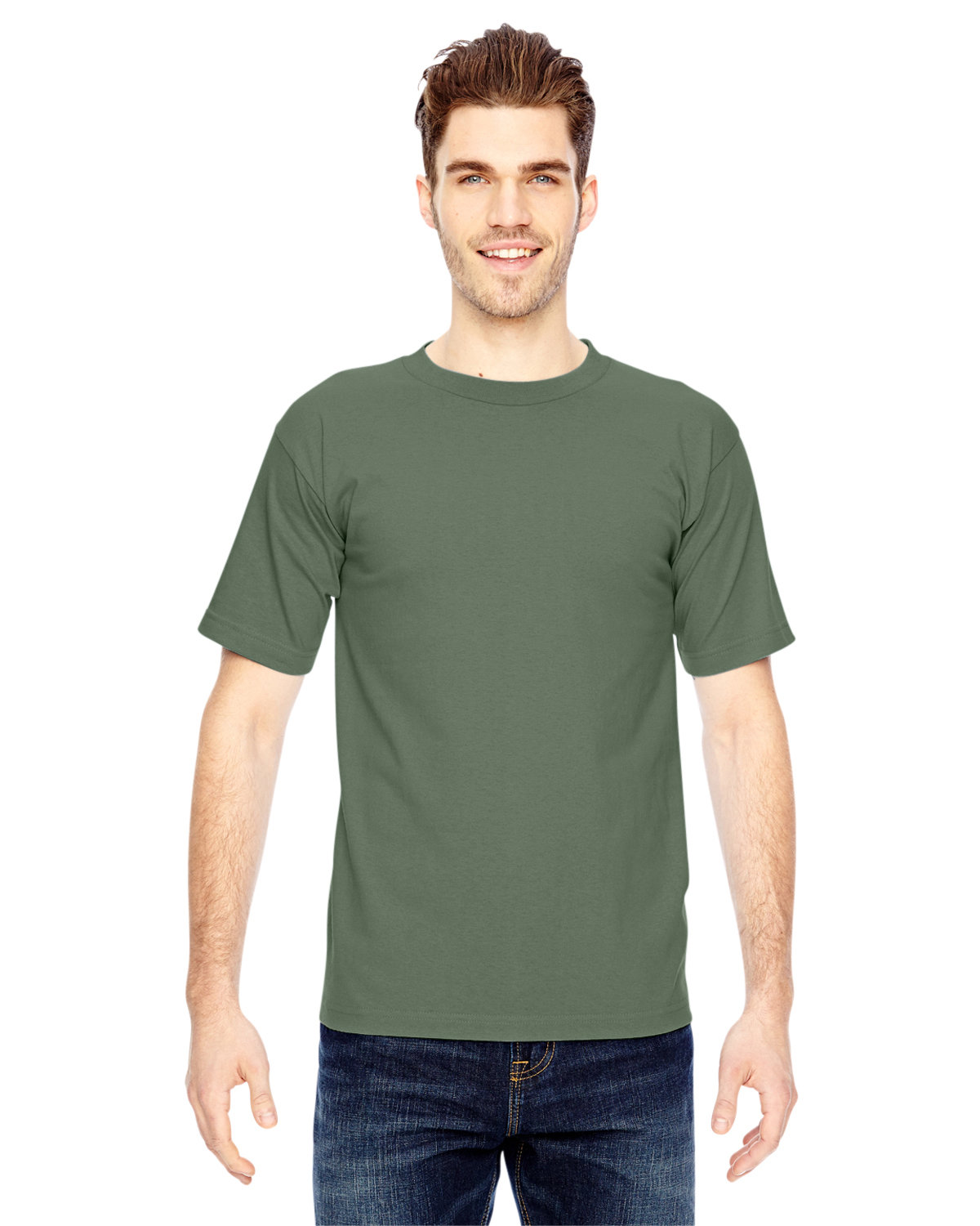 Bayside Adult 6.1 oz., 100% Cotton T-Shirt ARMY GREEN