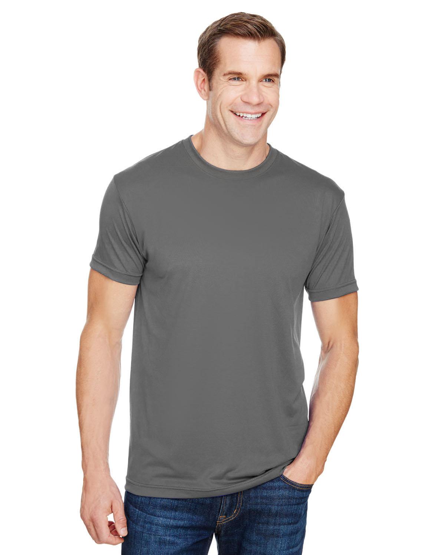 Bayside Unisex 4.5 oz., Polyester Performance T-Shirt CHARCOAL