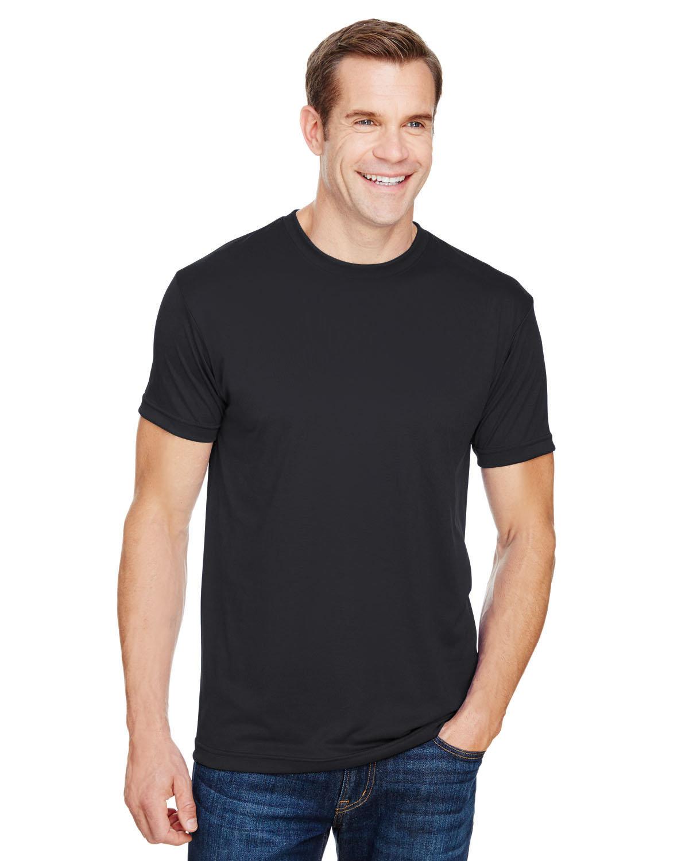 Bayside Unisex 4.5 oz., Polyester Performance T-Shirt BLACK