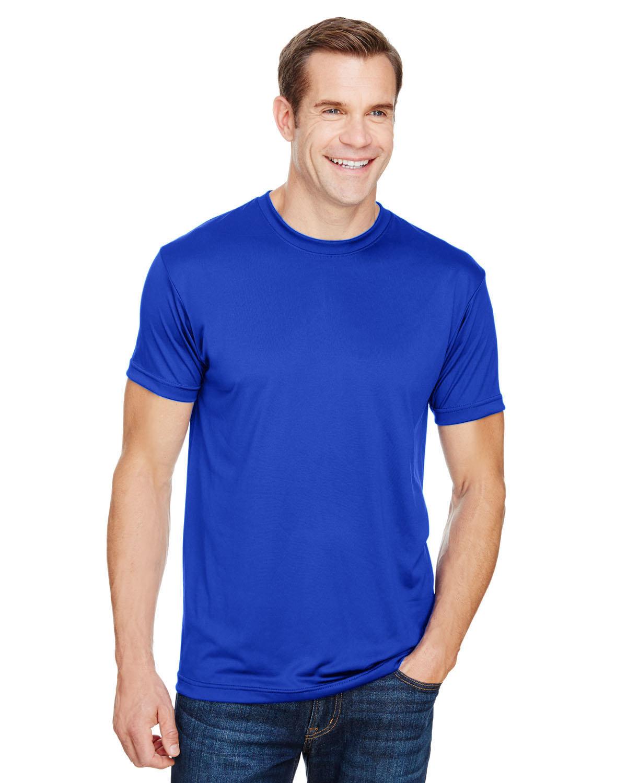 Bayside Unisex 4.5 oz., Polyester Performance T-Shirt ROYAL BLUE